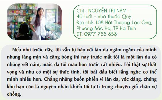 Chị Nguyễn Thị Năm – 40 tuổi – 108 Hải Thượng Lãn Ông, Phường Bắc Hà, TP Hà Tĩnh