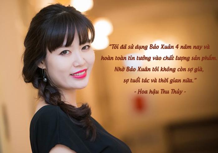 Hoa hậu thu thủy chia sẻ về phuong pháp có làn da đẹp