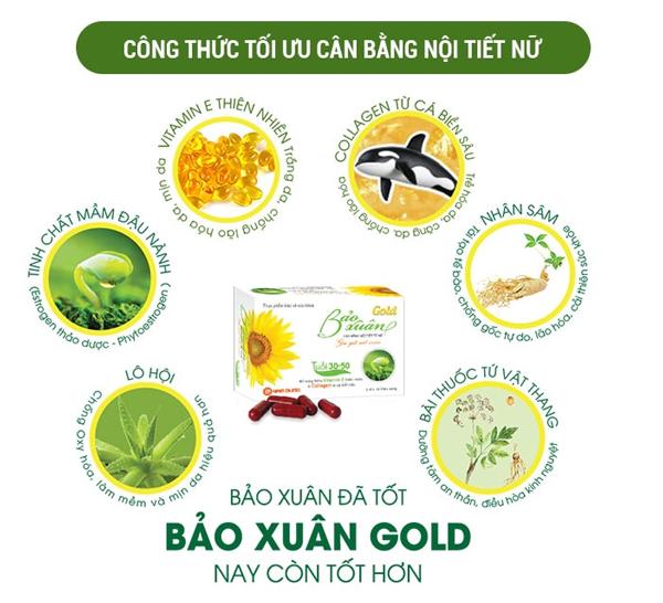 Một số thành phần tiêu biểu trong Bảo Xuân Gold
