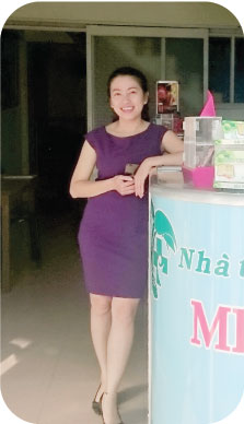 Chị Trương Thị Diễm Trang (37 tuổi, 101 Hai Bà Trưng, Đà Lạt, Lâm Đồng)