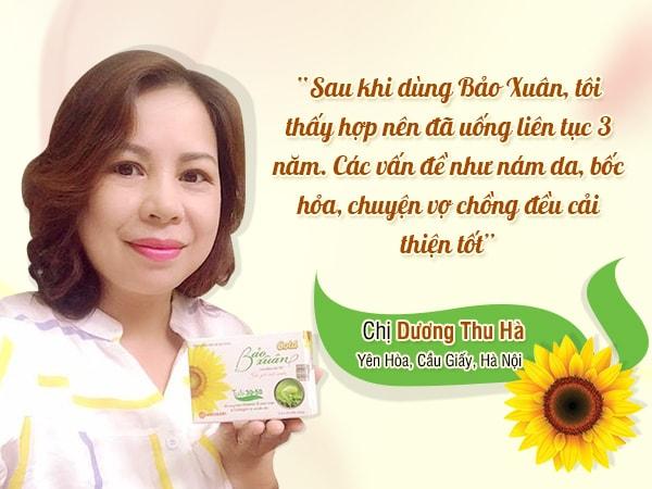 Cảm nhận về Bảo Xuân của khách hàng của chị Dương Thu Hà