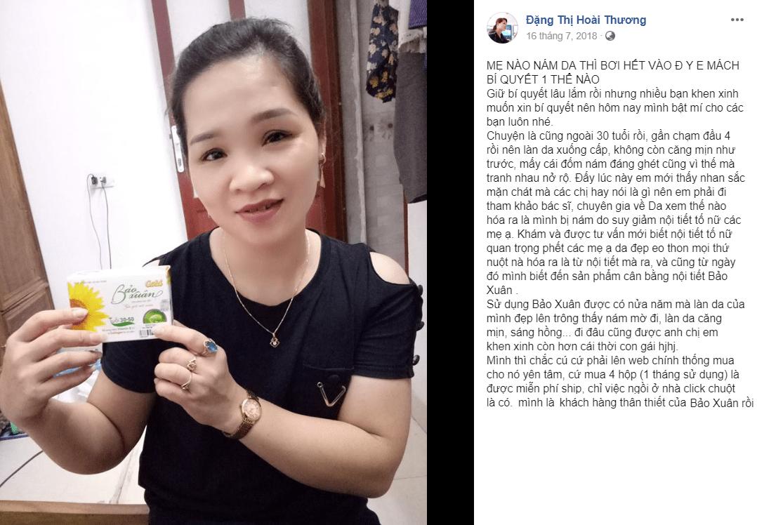 Chị Đặng Thị Hoài Thương chia sẻ về cân bằng nội tiết tố nữ