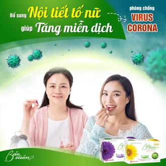 Tăng đề kháng, Tăng miễn dịch,  Phòng chống Virus Corona nhờ bổ sung nội tiết tố nữ