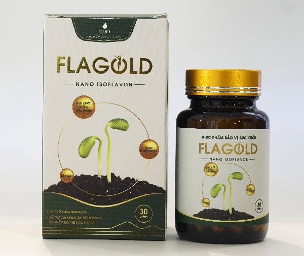 Flagold có các thành phần chính là mầm đậu nành và cao khô đan sâm