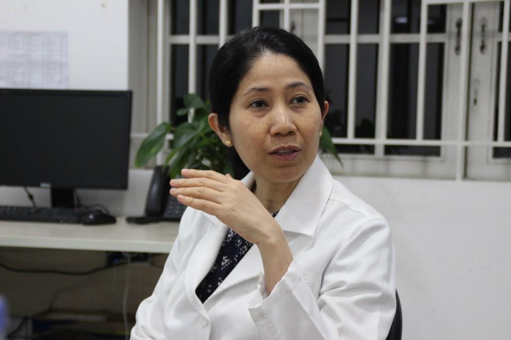 Bác sĩ Vương Thị Ngọc Lan Phó khoa Hiếm muộn tại Bệnh viện Từ Dũ.